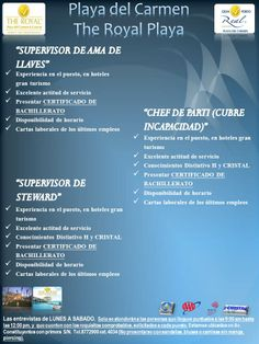 Vacantes en Playa del Carmen The Royal Playa