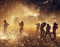 by Thomas Pier in Tultepec, Mexico, of the city celebrating its main export - fireworks: