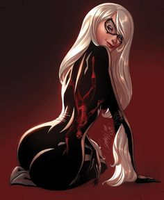 Amazing Spider-Man # 4 - Black Cat by J. Scott Campbell, colours by Nei Ruffino *