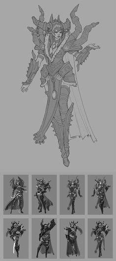 Alexstrazsa Redesign Linework and Thumbs by Zephyri WoW World of Warcraft queen of dragons Azeroth redesign armor clothes clothing fashion player character npc | Create your own roleplaying game material w/ RPG Bard: www.rpgbard.com | Writing inspiration for Dungeons and Dragons DND D&D Pathfinder PFRPG Warhammer 40k Star Wars Shadowrun Call of Cthulhu Lord of the Rings LoTR + d20 fantasy science fiction scifi horror design | Not Trusty Sword art: click artwork for source
