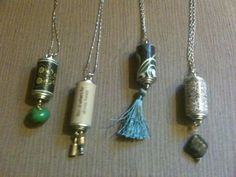 Wine cork necklaces