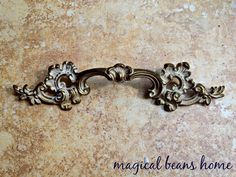 French Provincial Pulls w/ Ivory Patina by Keeler Brass Co