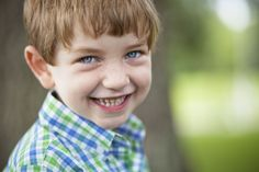 Blue and green plaid for playful boys! #orientexpressed #plaid