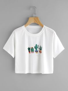 Cactus Print TeeFor Women-romwe