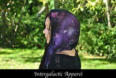 Cosmic Healing Hood with Fluorite Galaxy by IntergalacticApparel
