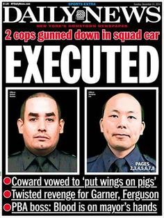 Front page of the New York Daily News featuring slain NYPD Officers Rafael Ramos and Wenjian Liu. Police Lives Matter, Police Life, The Line Of Duty, New York Daily News, I Love Ny, Freedom Of Speech, Police Officer, Revenge, Crime