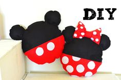 DIY Almofada Mickey e Minnie