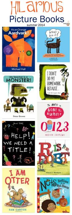 If you haven't read these, check out these new funny picture books. I think you'll like them!