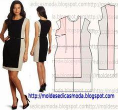 Moldes Moda por Medida: MOLDE DE VESTIDO-161