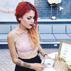 WEBSTA @ luanna90 - Early breakfast with @stilacosmetics for their #stilamixandmatte new lipstick launch wearing it in framboise! #stilastrikesgold