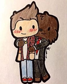 This is the cutest merome fan art I've ever seen!!!