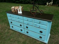 Simply Salvaged: Turquoise Dresser {Before and After}