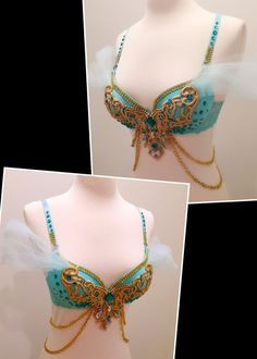 Princess Jasmine Version 1 Costume Rave by ElectricDreamCouture