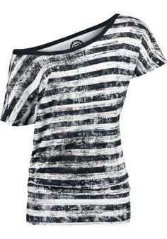 Striped Ladies Shirt - R.E.D. by EMP T-paita