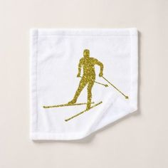 #Golden Cross-country skiing Wash Cloth - #country gifts style diy gift ideas #MakingClothesFromOldClothes Making Clothes From Old Clothes, Washing Clothes, Golden Cross, Cross Country Skiing, Gold Gifts, Decorative Items, Design Art, Diys, Sewing Projects