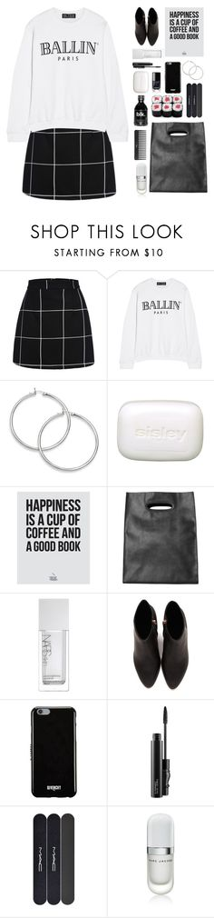 """""""Black & white mood"""" by mydlak-katarzyna ❤ liked on Polyvore featuring Brian Lichtenberg, Sisley, Monki, NARS Cosmetics, Alexander Wang, Givenchy, MAC Cosmetics, Marc Jacobs and Sephora Collection"""