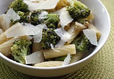 pasta with roasted broccoli and garlic and oil. yummy and simple!