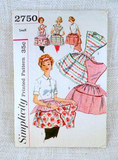 Vintage Pattern Simplicity 2750 detachable by momandpopcultureshop