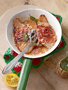 Saltimbocca alla Romana - Schnitzel mit Schinken und Salbei
