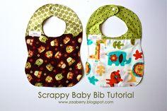 Zaaberry: Scrappy Baby Bib Tutorial