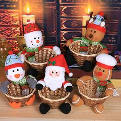 Merry Christmas Candy Basket Children's Candy Box Jar Gift Xmas Ornament Home Merry Christmas Santa, Christmas Tree Toppers, Christmas Candy, Christmas Tree Ornaments, Christmas Ideas, Home Decor Baskets, Basket Decoration, Snowflake Decorations, Christmas Tree Decorations
