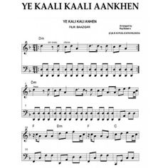 Piano Keyboard Guitar Violin Sax sheet music books of Bollywood songs in Treble and Base clef with lyrics chords Hindi songs notations in ABCD and SAREGAMA Keyboard Sheet Music, Drum Sheet Music, Drums Sheet, Sheet Music Pdf, Download Sheet Music, Song Sheet, Piano Music Notes, Sheet Music Notes, Music Books
