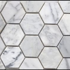 Bianco Carrara Marble 2 Inch Hexagon-Honed
