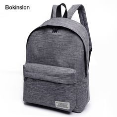 813f1f8a08ca Bokinslon Women Backpack Men Popular Solid Color Backpack For Woman School  Bag College Wind Small Fresh Fashion Backpack