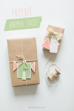Free DIY Printable Animal Gift Tags