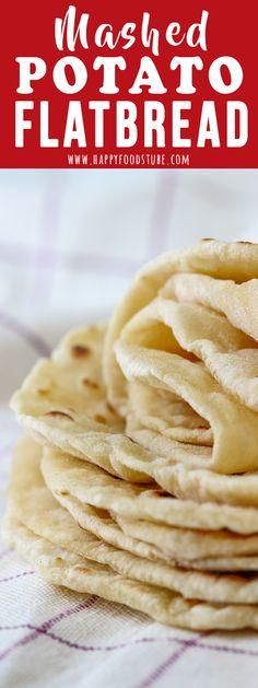 via Easy Potato Flatbread Recipe. Turn your leftover mashed potatoes to delicious mashed potato flatbread. It's a yeast-free and oil-free recipe that everyone loves. Easy Mashed Potatoes, Leftover Mashed Potatoes, Mashed Potato Recipes, Cheesy Potatoes, Baked Potatoes, Mashed Potato Cakes, Potato Flatbread Recipe, Flatbread Recipes, Gluten Free Flatbread