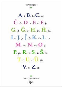 Esperanta Aboco Esperanto Language, Math Equations, Teaching, Euro, Languages, Peace, Event Posters, Bedroom, Education
