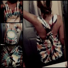 Simple way to cut an old tshirt for a cute cover up in the summer!
