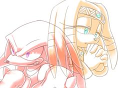 Knuckles and Tikal Tikal, Shadow The Hedgehog, Sonic The Hedgehog, Sonic Underground, Best Freinds, Rouge The Bat, Sonic Franchise, Sonic Adventure, Sonic Art