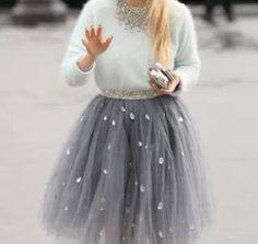 Gorgeous tulle skirt #stylescavenger