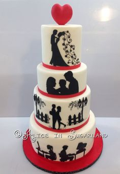 Wedding cake - love story