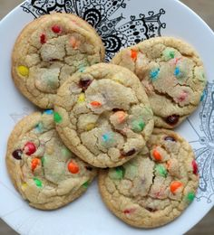 Perfect M & M Cookies...Soft, chewy, but still with crispy edges.  These cookies bake up quickly and deliciously!