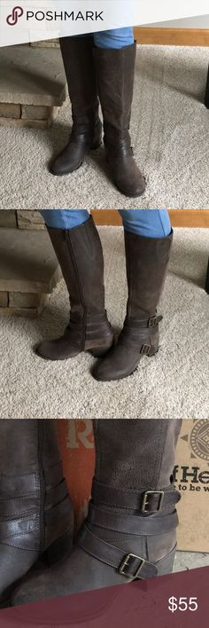 Ruff Hewn Boots 💕💕💕💕 New Ruff Hewn Maddock boots with box.  Rustic look. Elastic insert for added width around calves 🌺🌺🌺 Ruff Hewn Shoes Heeled Boots