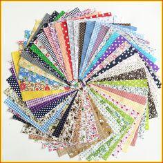 50pcs 30cmx30cm Hot Sale Cotton Fabric For Sewing Patchwork Bundles Mixed Flower Printed The Cloth Tilda Fabric Telas Handwork