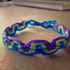 Wave Handmade Macrame Bracelet Handmade macrame/friendship bracelet by me. Looks nice worn on either side. Discount on bundles and get one FREE with purchase !!! ⓢⓘⓩⓔ: Bracelet is 9 inches long (size may vary) Jewelry Bracelets
