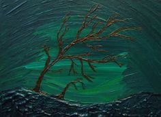 On Sale  Windblown Original Acrylic Painting on by AndPerSeStudios, $25.00