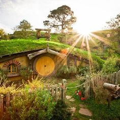 At Hobbiton, New Zealand.