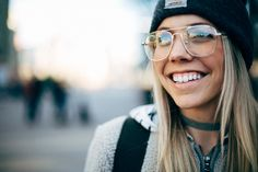 The Collaboration Blog: Casual Street Style #streetstyle #fakeglasses #casualstyle Glasses - Urban Outfitters Choker - Vanessa Mooney
