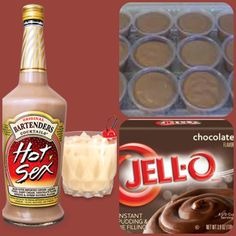 Hot Sex Pudding Shots  1 small Pkg.chocolate instant pudding 3/4 Cup Milk 3/4 Cup Hot Sex pre-mixed cocktail 8oz tub Cool Whip  Directions 1. Whisk together the milk, liquor, and instant pudding mix in a bowl until combined. 2. Add cool whip a little at a time with whisk. 3.Spoon the pudding mixture into shot glasses, disposable shot cups or 1 or 2 ounce cups with lids. Place in freezer for at least 2 hours