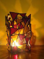 Candle holder-Stained Glass