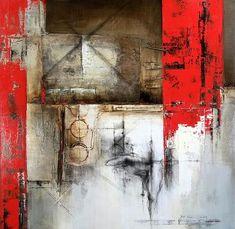 """Transcendency"" Mixed Media on Canvas, 48"" x 48"" Jou Lee"