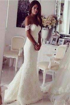 Long Mermaid wedding dress,custom wedding dress,cheap Elegant wedding dress ,bridal dresses 2016, WD17155