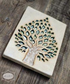 ceramic tile decor tree / ceramiczny kafel - dekor drzewo facebook.com/ceramikashe art-ab.blogspot.com