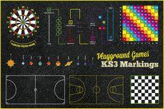KS2 Play Area Games in Flintshire 8