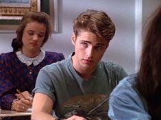Jason Priestley as Brandon Walsh in 90210 Beautiful Boys, Pretty Boys, Beautiful People, Brandon Walsh, Jason Priestley, Dream Boy, Hot Boys, Handsome Boys, Cute Guys
