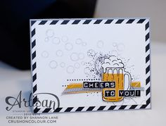 Crush On Colour: Cheers to Dads! (Stampin' Up! Mixed Drinks, Labeler Alphabet, Playful Backgrounds)